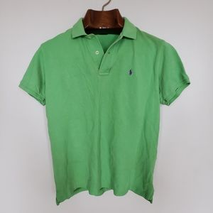 Ralph Lauren // solid green polo golf shirt tee